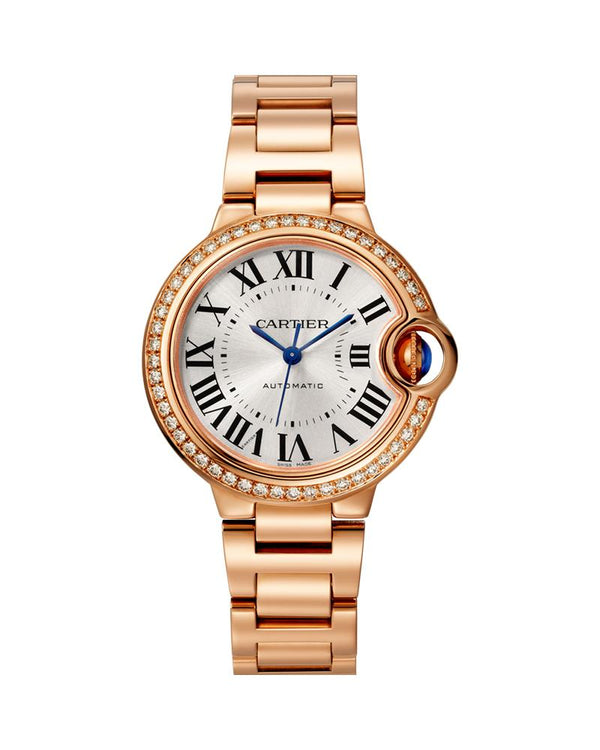 BALLON BLEU DE CARTIER, 33 MM, ROSE GOLD, DIAMONDS