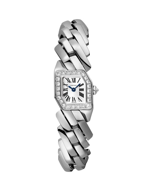 MAILLON DE CARTIER, SMALL MODEL, DOUBLE LOOP, WHITE GOLD, DIAMONDS