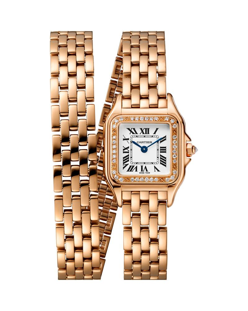 PANTHERE DE CARTIER, SMALL, DOUBLE LOOP, ROSE GOLD, DIAMONDS