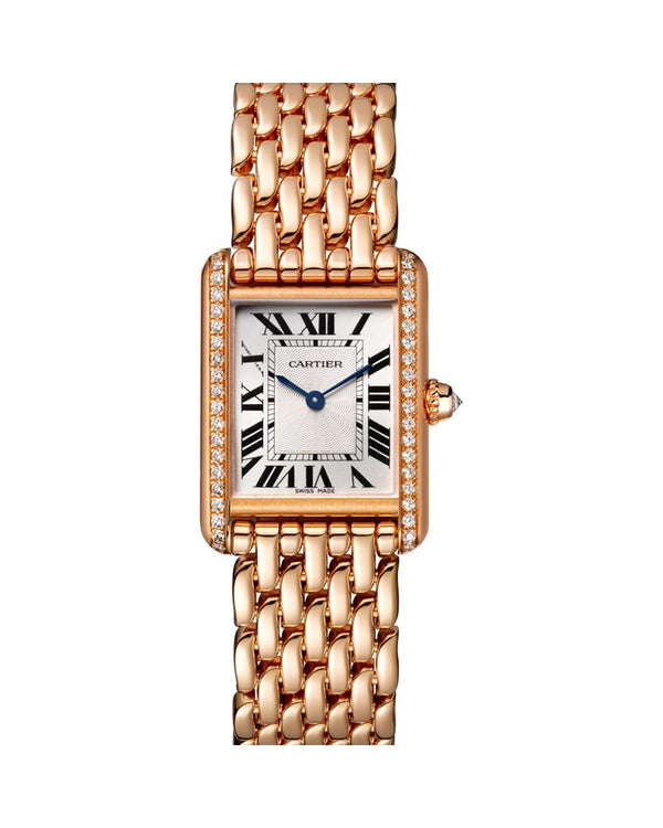 TANK LOUIS CARTIER, SMALL, ROSE GOLD, DIAMONDS