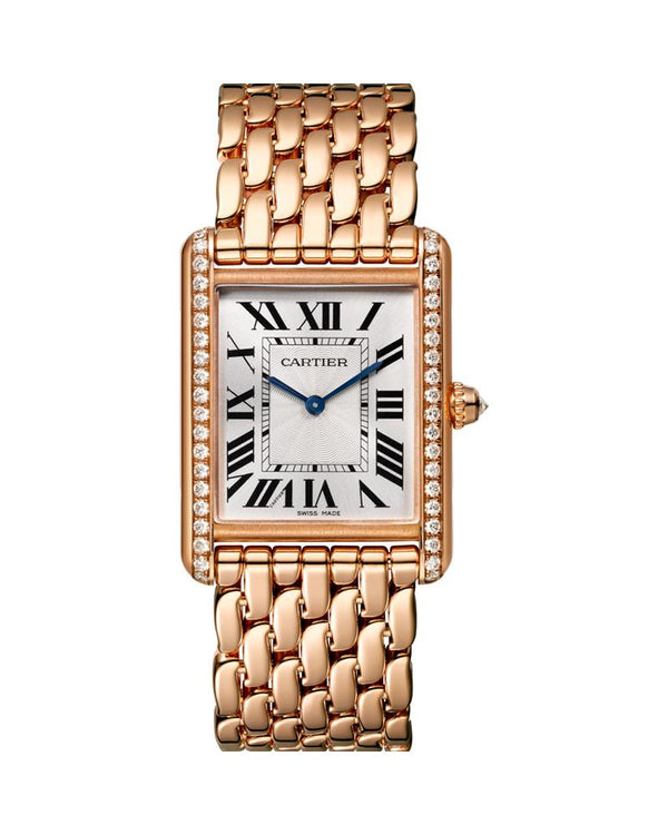 TANK LOUIS CARTIER, LARGE ROSE GOLD, DIAMONDS