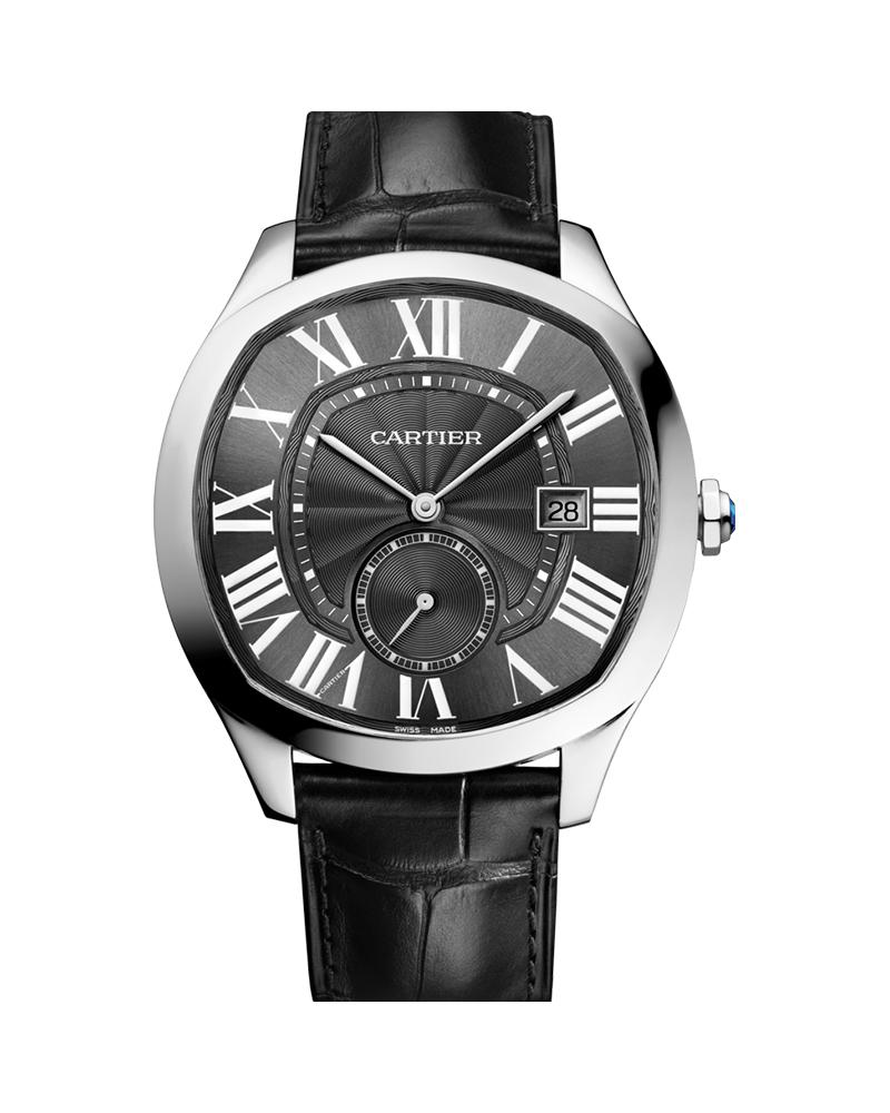 DRIVE DE CARTIER, LARGE MODEL, STEEL, LEATHER