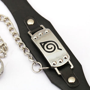 Leather Bracelet Naruto With Ring