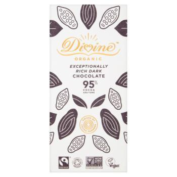 Divine 95% Dark Choc Bar 80g