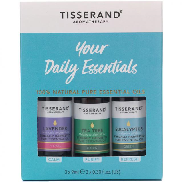 Tisserand Your Daily Essential Oils Kit (3 X 9ml)