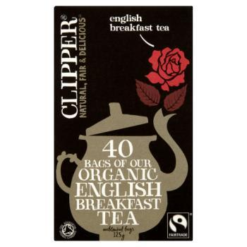 Clipper Fairtrade Organic English Breakfast 40 Tea Bags 125g
