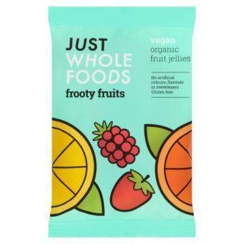 Just Wholefoods Frooty Fruits Vegan & Organic Fruit Jellies 100g