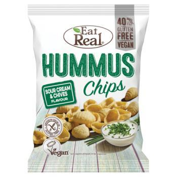 Eat Real Sour Cream & Chives Hummus Chips 45g