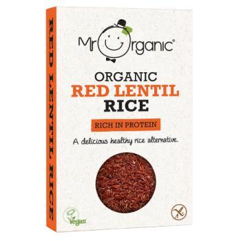 Mr Organic Red Lentil Rice 250g
