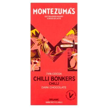 Montezuma Dark Chocolate Bar - Chilli Bonkers 90g