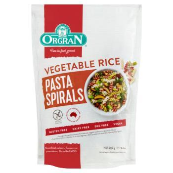 Vegetable Rice Spirals 250g