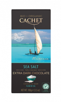 Cachet Extra Dark Seasalt Choc Bar 72%