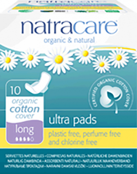 Natracare Ultra Pads With Wings - Long
