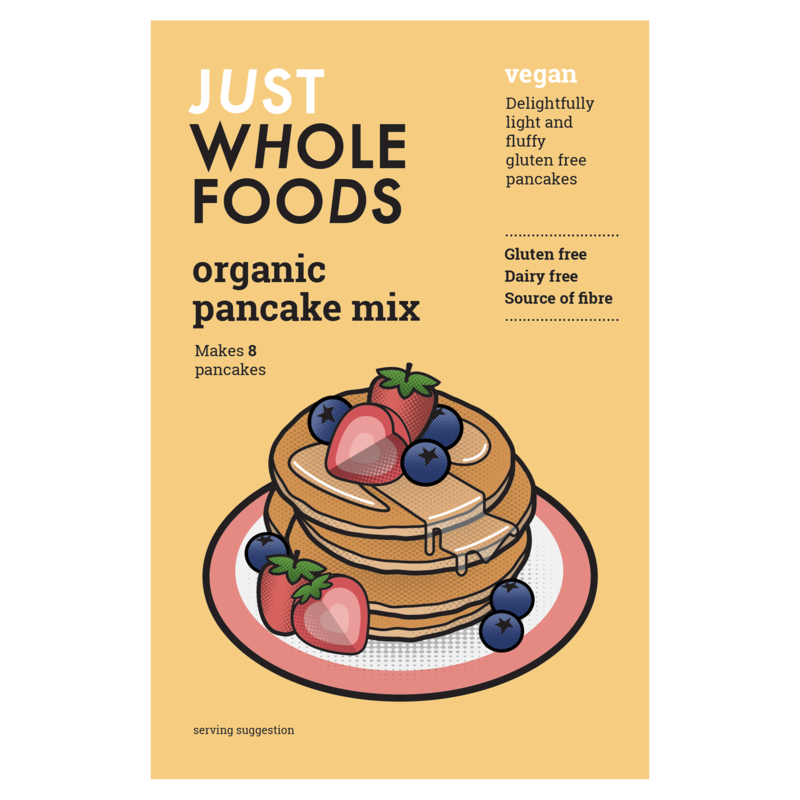 Just Whole Foods Organic Vegan and Gluten Free Pancake Mix