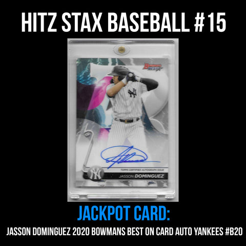 Hitz Stax - Baseball #15 - Jasson Dominguez Rookie On Card Auto