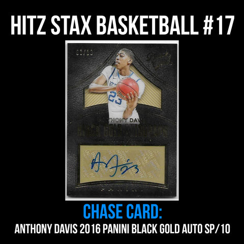 Hitz Stax - Basketball #17 - Anthony Davis Auto SP/10 RARE!
