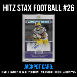 Hitz Stax - Football #26 - Clyde Edwards-Helaire Rookie Auto SP/25