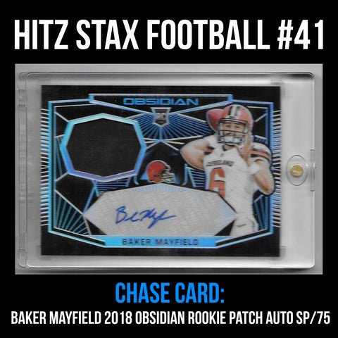 Hitz Stax - Football #41 - Baker Mayfield Rookie Patch Auto SP/75