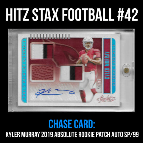 Hitz Stax - Football #42 - Kyler Murray Rookie 3-Color Patch Auto SP/99