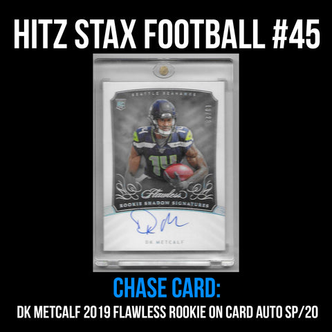 Hitz Stax - Football #45 - DK Metcalf Flawless Rookie Patch Auto SP/20