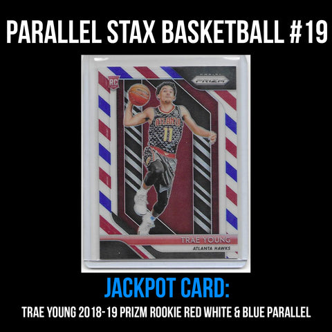 Parallel Stax - Basketball #19 - Trae Young Prizm Red White & Blue Rookie