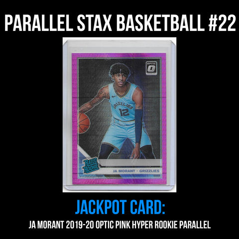 Parallel Stax - Basketball #22 - Ja Morant Optic Pink Hyper Rookie Parallel