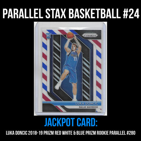 Parallel Stax - Basketball #23 - Luka Doncic Prizm Red White & Blue Rookie