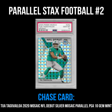Parallel Stax - Football #2 - Tua Tagovailoa Mosaic NFL Debut Parallel PSA 10 Gem Mint