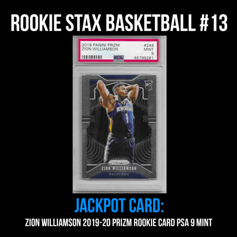Rookie Stax - Basketball #13 - Zion Williamson Prizm Rookie PSA 9