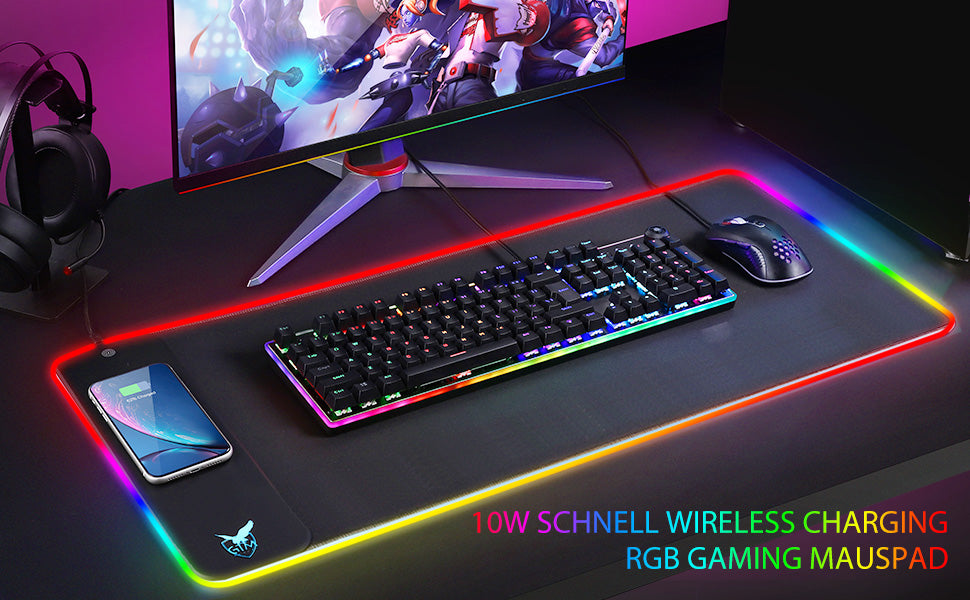 fast charge RGB mouse pad