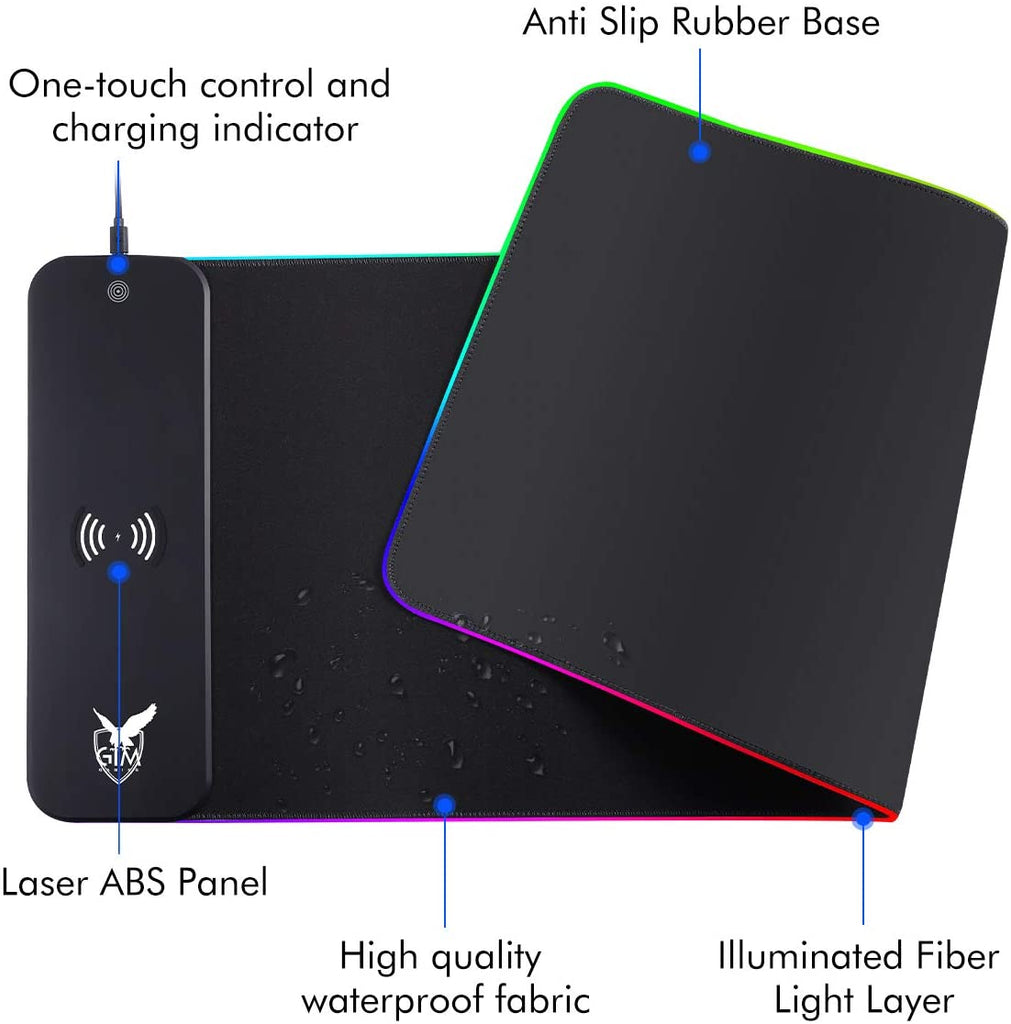 10W fast charge RGB gaming mouse pad