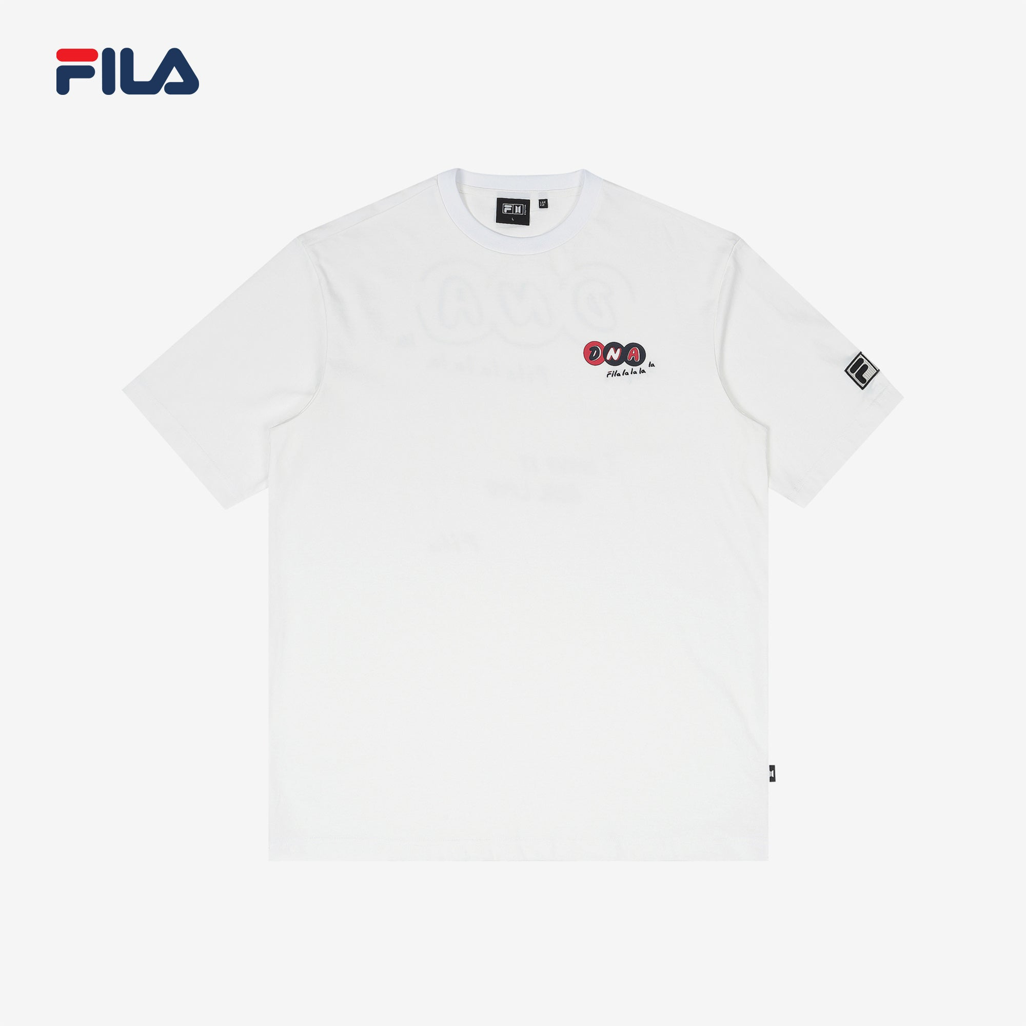 BTS FILA DNA GRAPHIC T SHIRT (White)