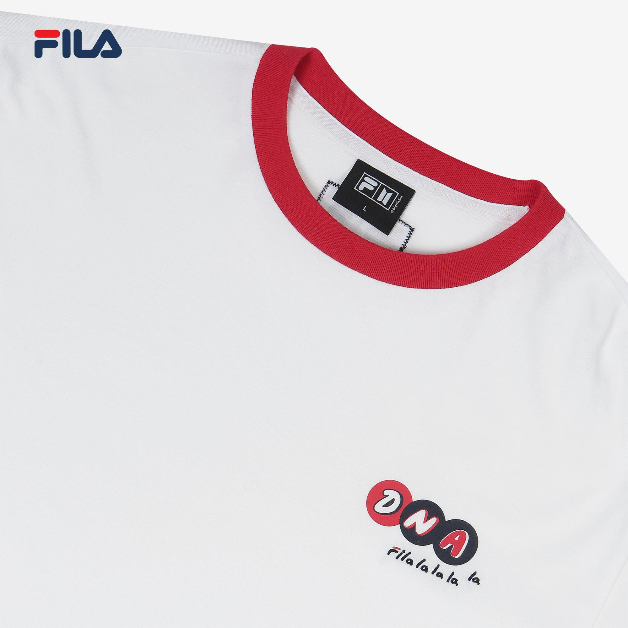 BTS FILA DNA COLOR SLEEVES T SHIRT (White)