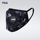 Fila Fashionable/3D with breather valve Face Mask - Black and Grey (Free Size)