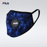 Fila Fashionable/3D with breather valve Face Mask - Black and Blue (Free Size)
