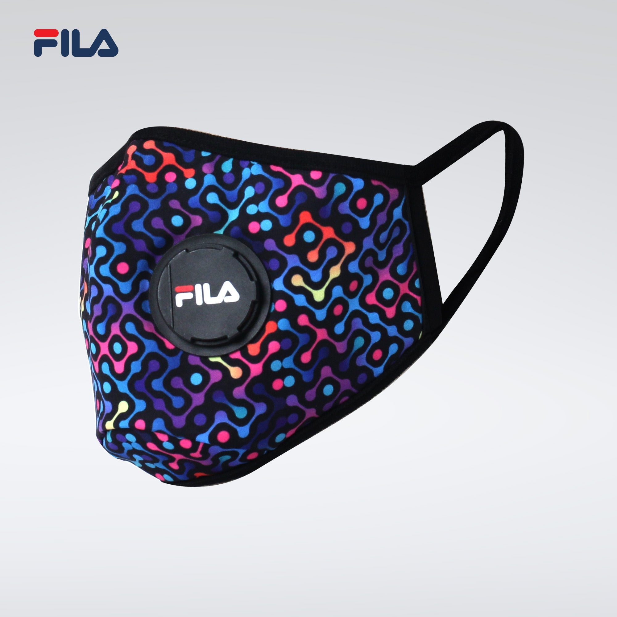 Fila Fashionable/3D with breather valve Face Mask - Multi-color (Free Size)