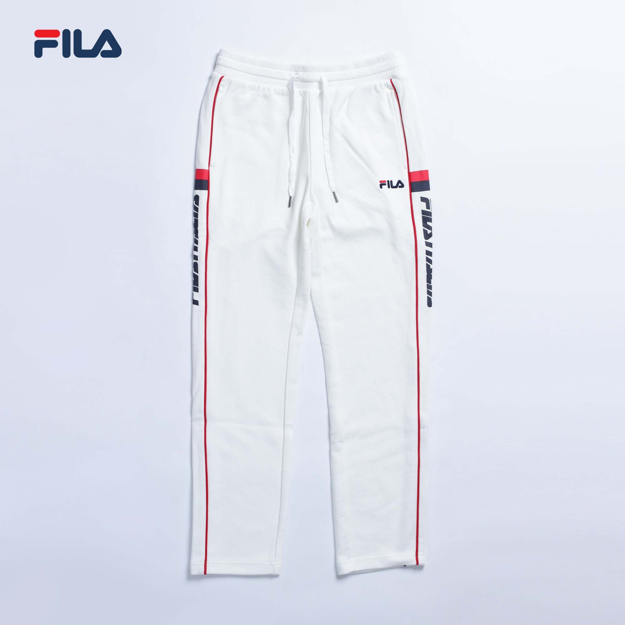 LETTERING TRACK PANTS OFF WHITE