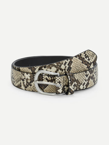 Snakeskin Pattern Belt
