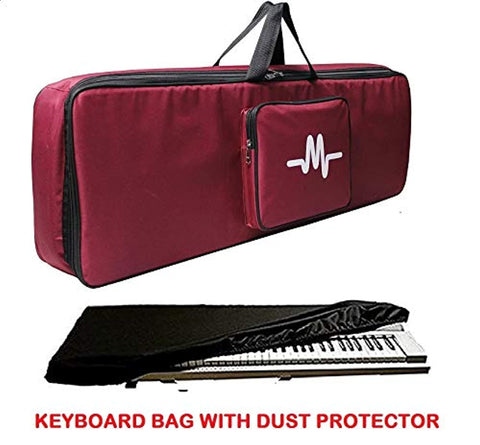 Casio keyboard bag padded sponge quality with dust cover.