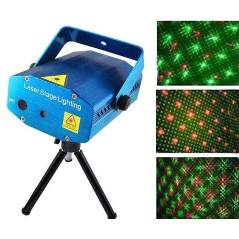Mini Laser Projector Stage Lighting Sound Activated Laser Light for Home Party.