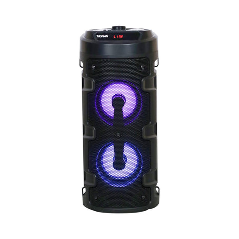 High Power Audio System with Karaoke Mic,Bluetooth Connectivity, Light Shows