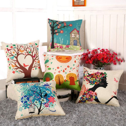 Hand Made Jute Throw/Pillow Cushion Covers Set of 5