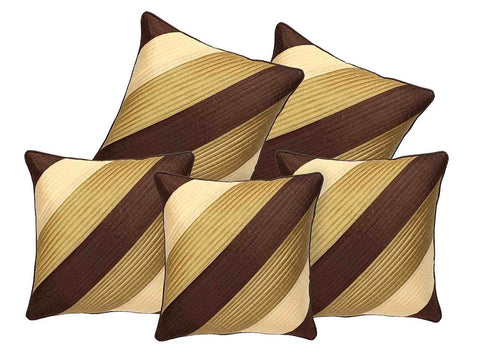 Decor Cushion Cover Set of 5 - Brown and Gold