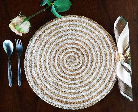 Round Braided Jute Placemats