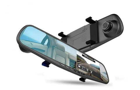 Car Dual Lens 1080P Rear View Camera with Mirror Recorder