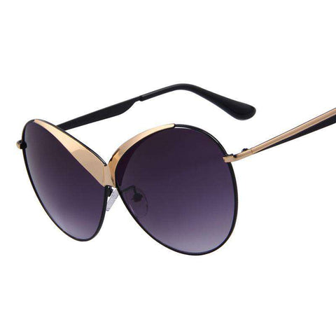 Top Quality Summer Style Oval Alloy Frame UV400 Sunglasses