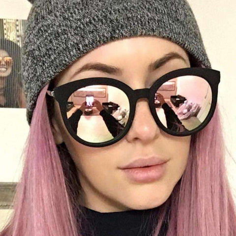 Designer Retro Mirror rose gold Sunglasses