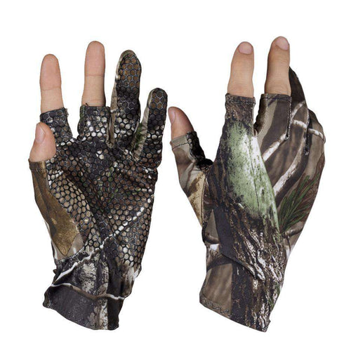 Fingerless Hunting Fishing Camouflage Comfortable Anti Slip Elastic Skidproof Nonslip Gloves