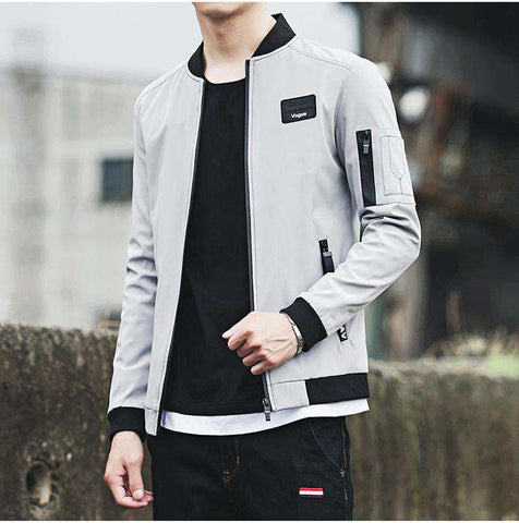 Slim Fit Baseball Bomber Jacket