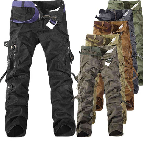 Multi Pockets Military Cargo Casual Pants - Wear.Style